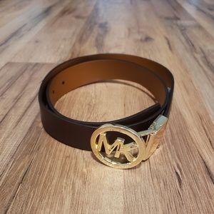 MICHAEL Michael Kors Dark Brown Leather Belt